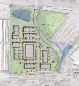 Overview of plan showing enter and exit point on Arapahoe